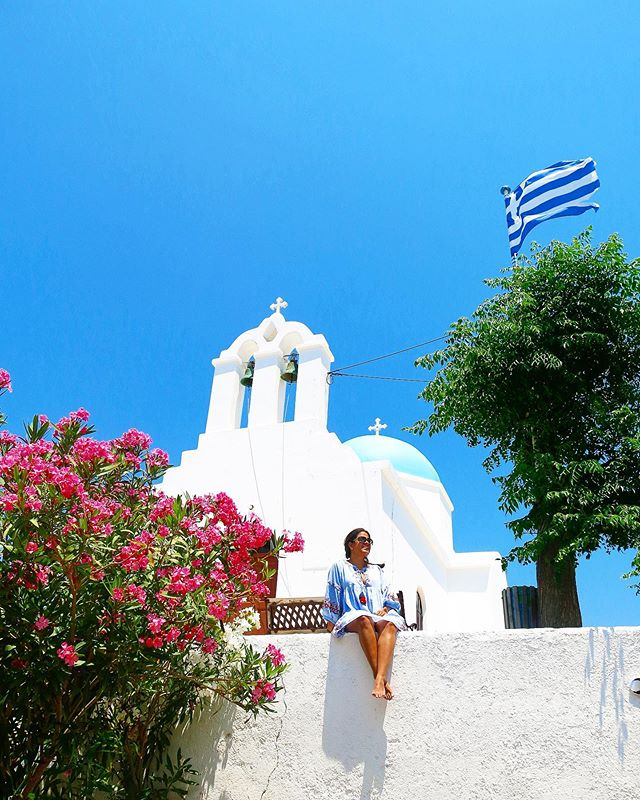 Alone to enjoy the quiet village of Piso Livadi in Paros island, Greece.