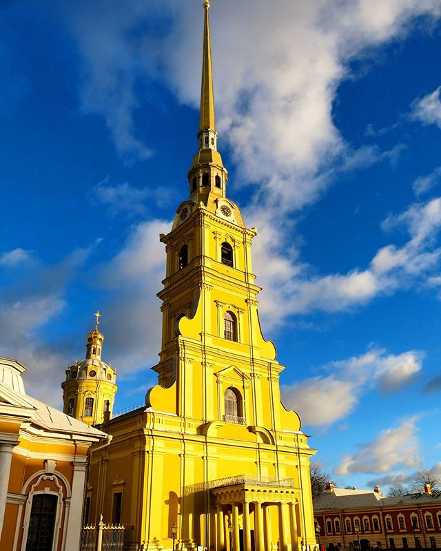 The cathedral Saint-Peter-and-Paul within the eponymous citadel is the burial place of Russian Tsars including Peter the Great, founder of the city.