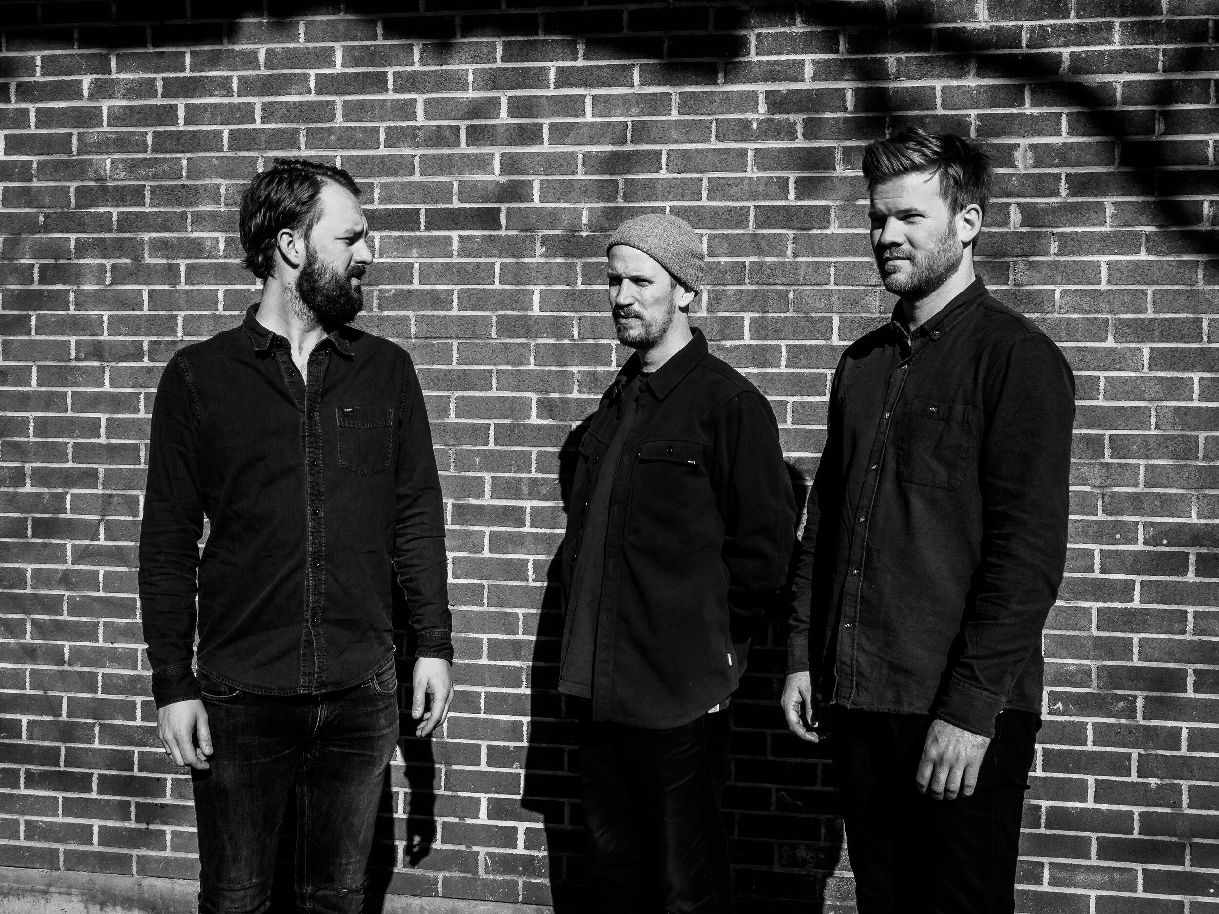 Gard Nilssen's Acoustic Unity—Nilssen, Petter Eldh, André Roligheten (photo:  Peter Gannushkin/downtownmusic.net )