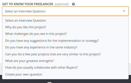 Listing a job on People Per Hour interview questions