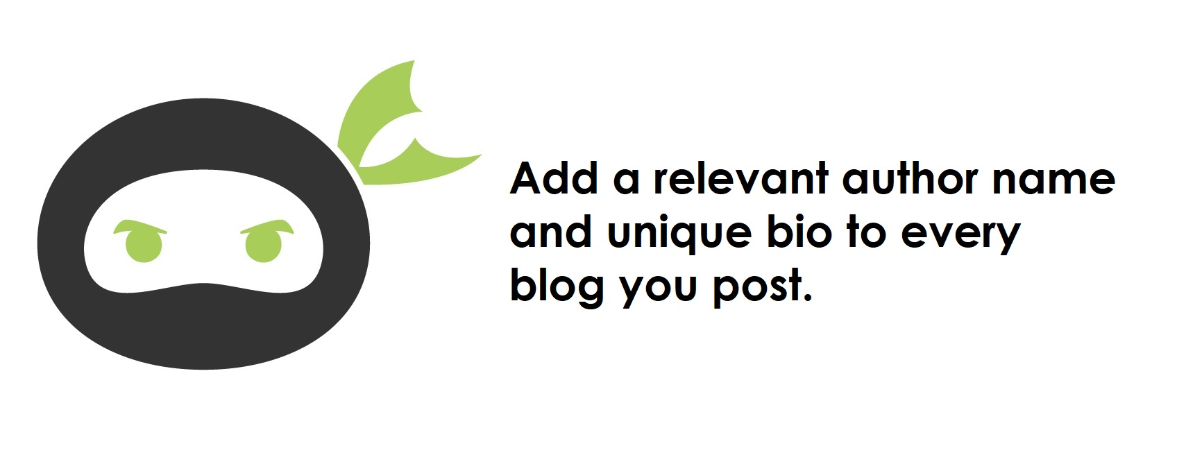 importance of adding a unique bio to each blog post