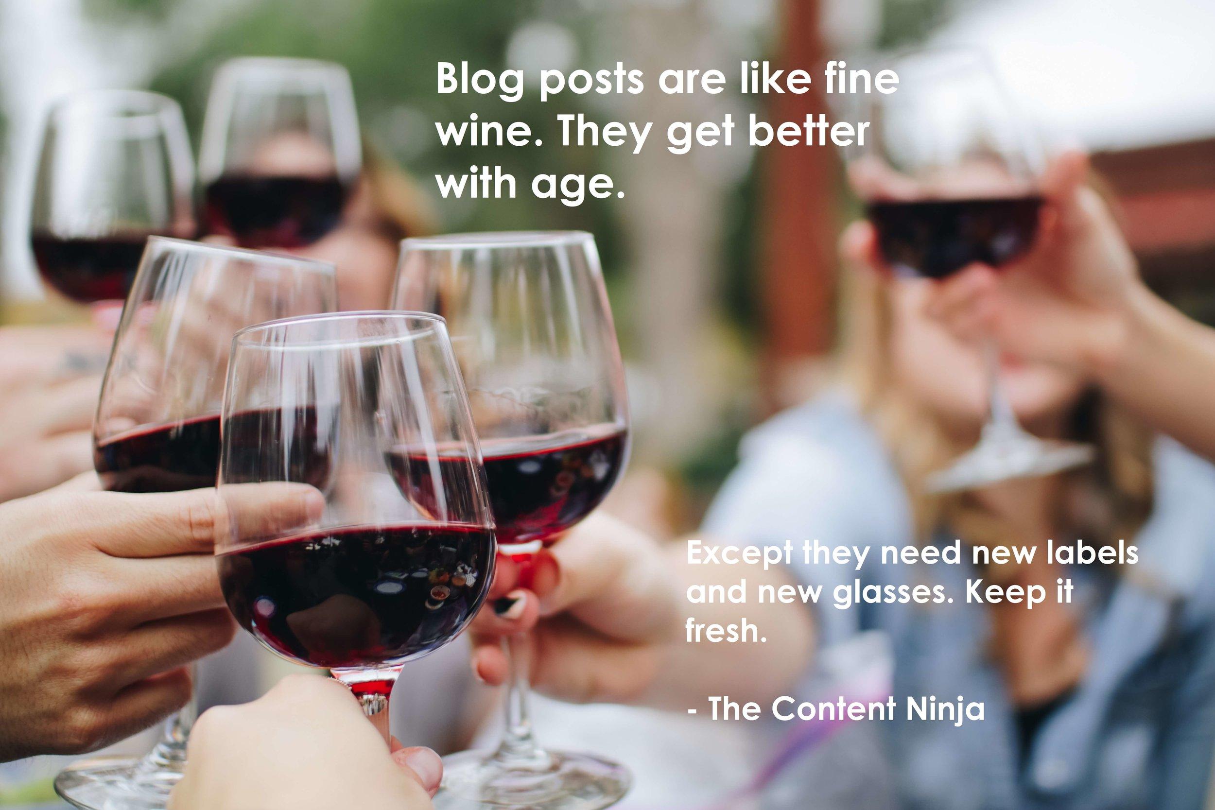 blog posts are like wine