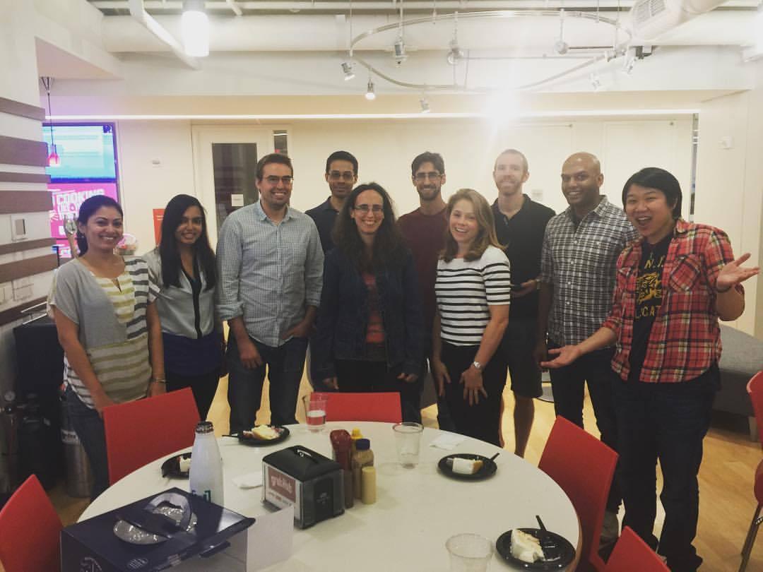 My colleagues at GRUBHUB (at New York, New York)
