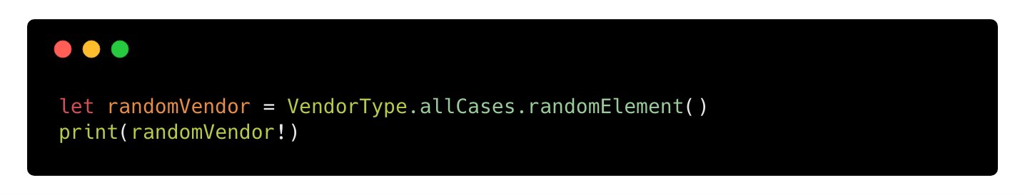 Accessing a random case from RandomElement