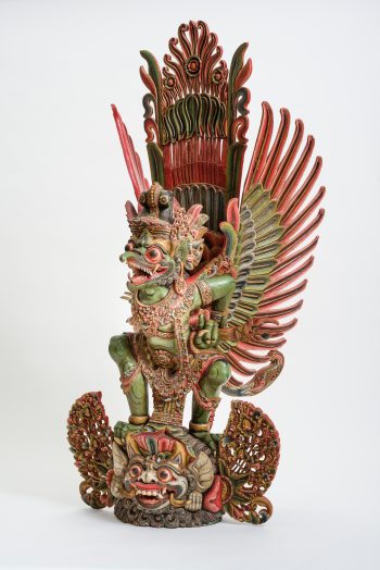 Garuda, the human-bird creature familiar in Buddhist and Hindu traditions but not typically seen in Chinese culture; this carving is from Bali, Indonesia