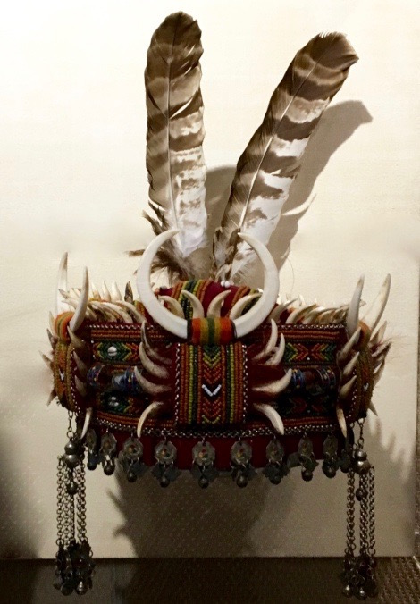 Paiwan headdress from the Shung Ye Museum of Formosan Aborigines, Taipei