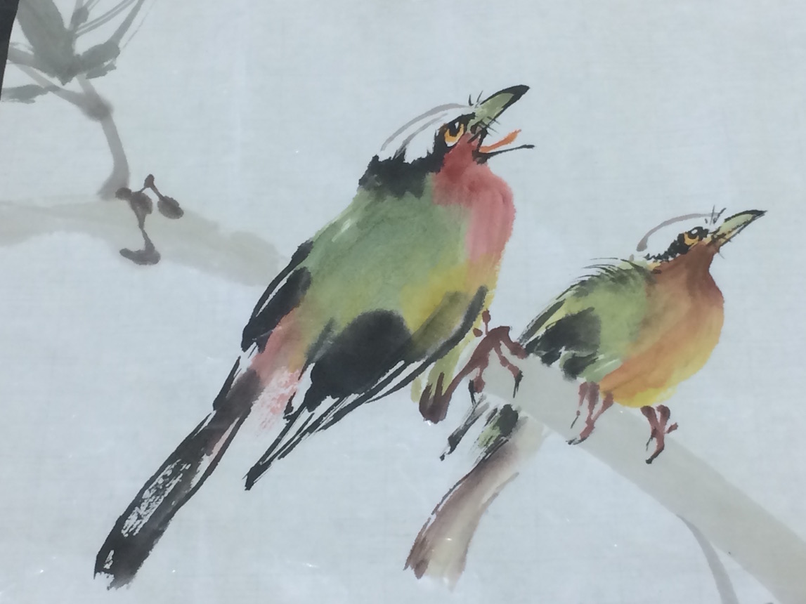 Every mark counts in traditional Chinese brush painting, using ink and color washes