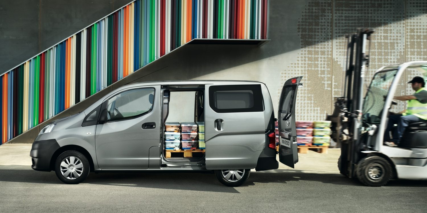 Nissan NV200 Silver in a Loading Bay