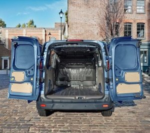 Open back of Ford Transit Connect