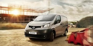 Nissan NV200 Silver Front of Vehicle