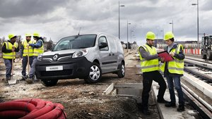 Renault Kangoo on a Building Site