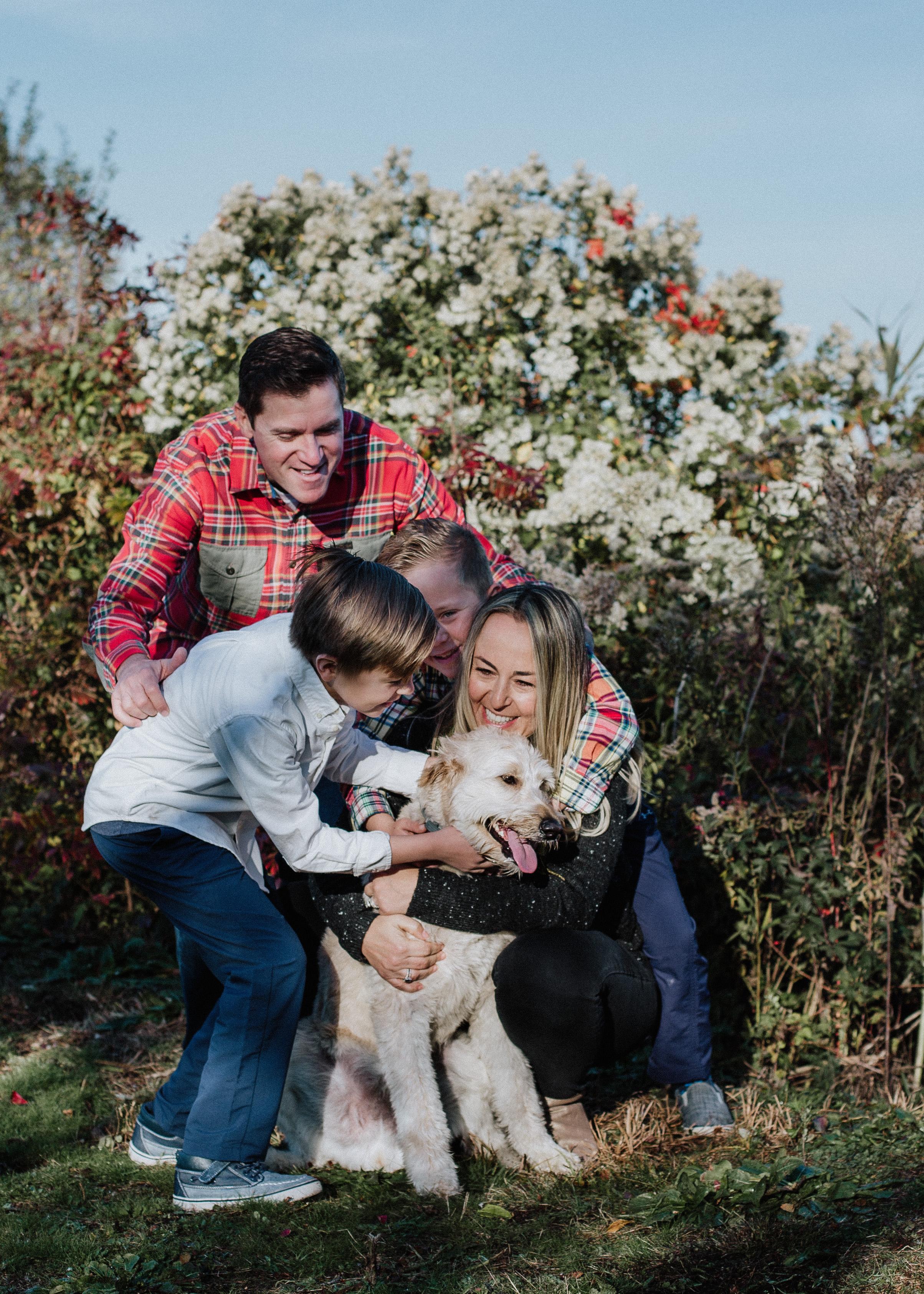 family photography long beach ny holiday session
