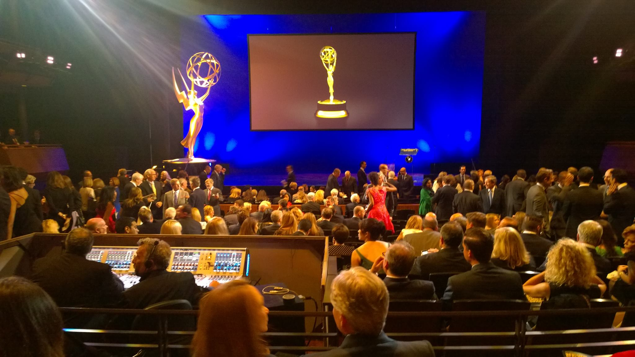 At the 2014 Emmy Awards ceremony (News & Documentary) as a Nominee