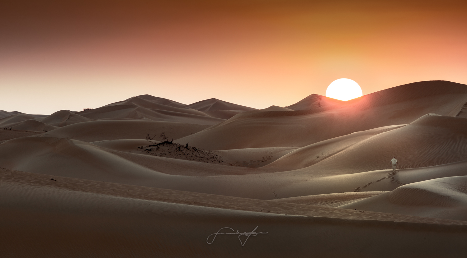 Sunset at Razeen desert