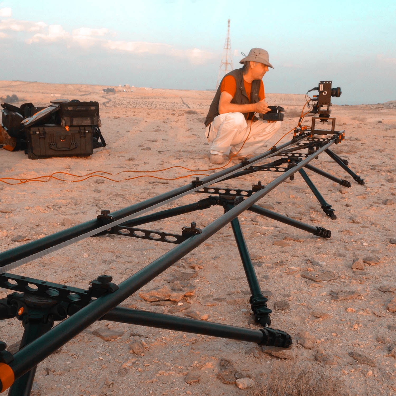 Motion Control time lapse rig in the desert. Check out the portfolio  here