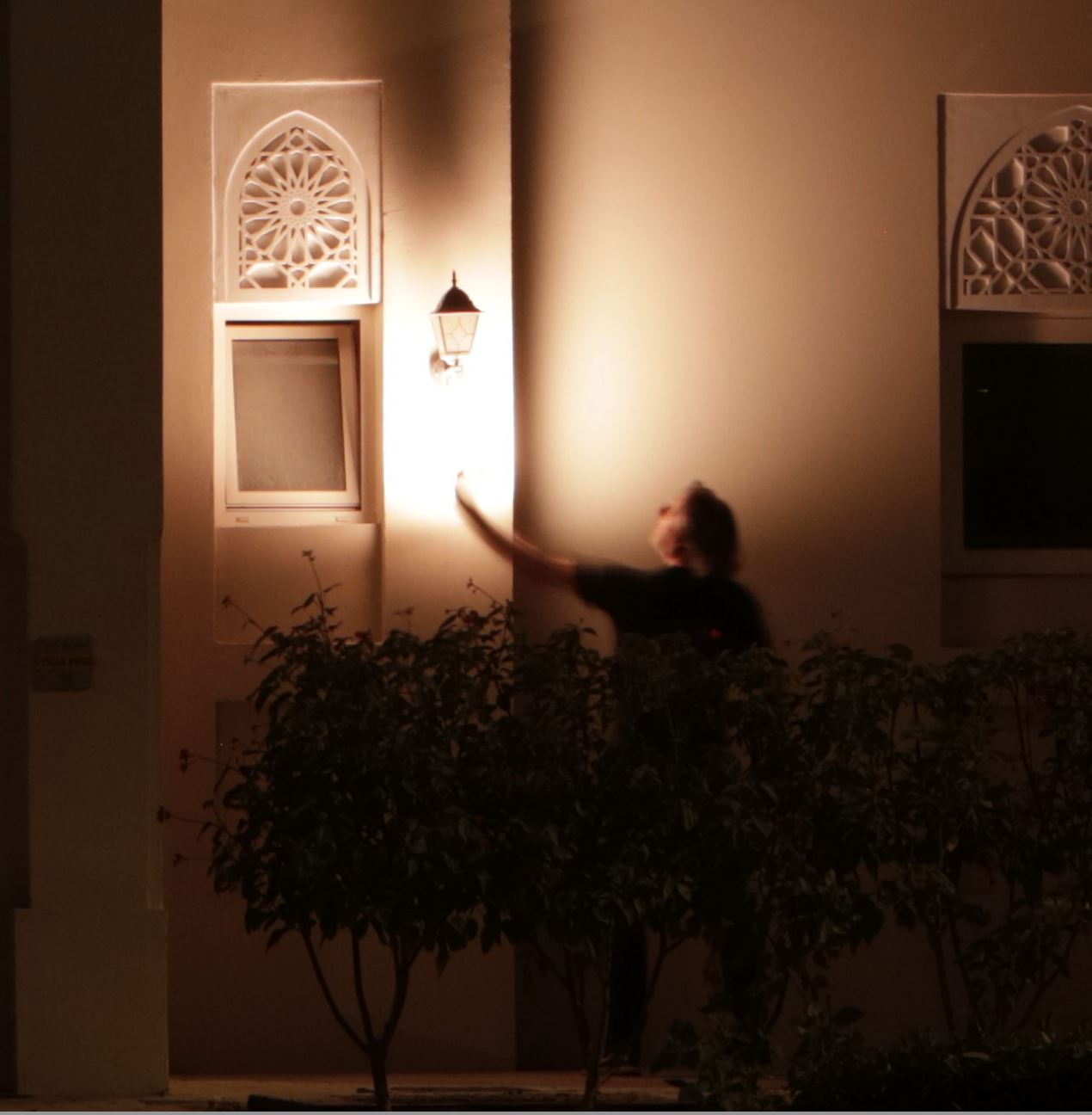 Light painting - behind the scene