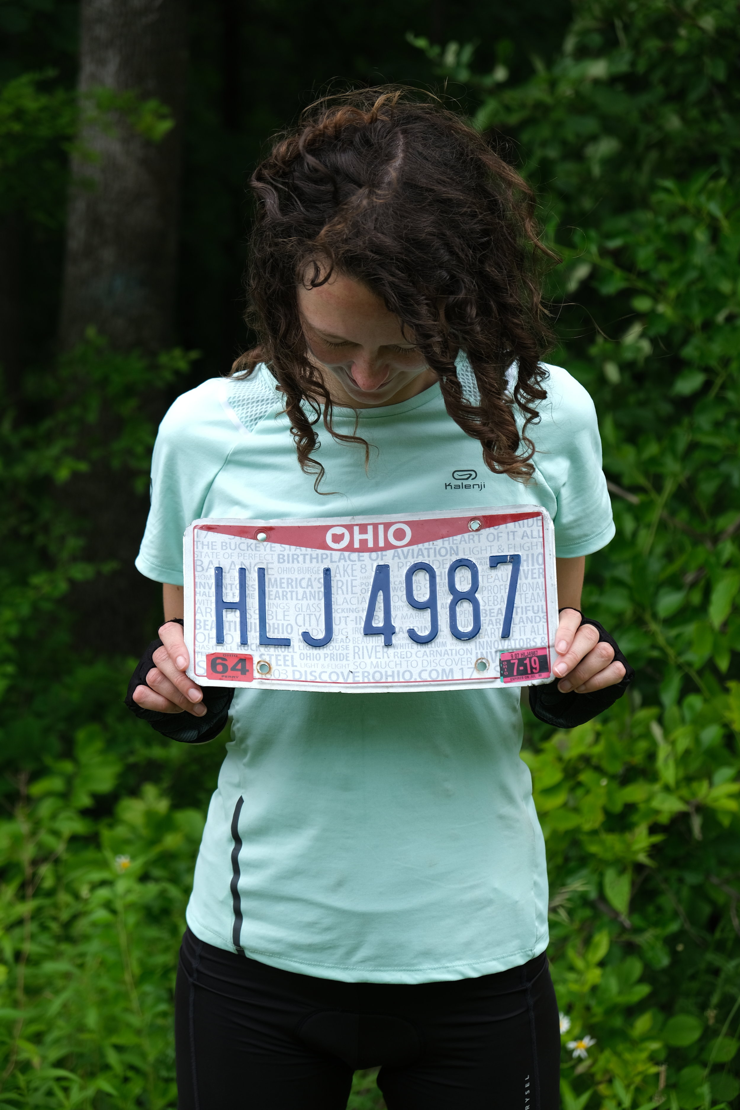 Two discarded number plates, found within five miles of each other.
