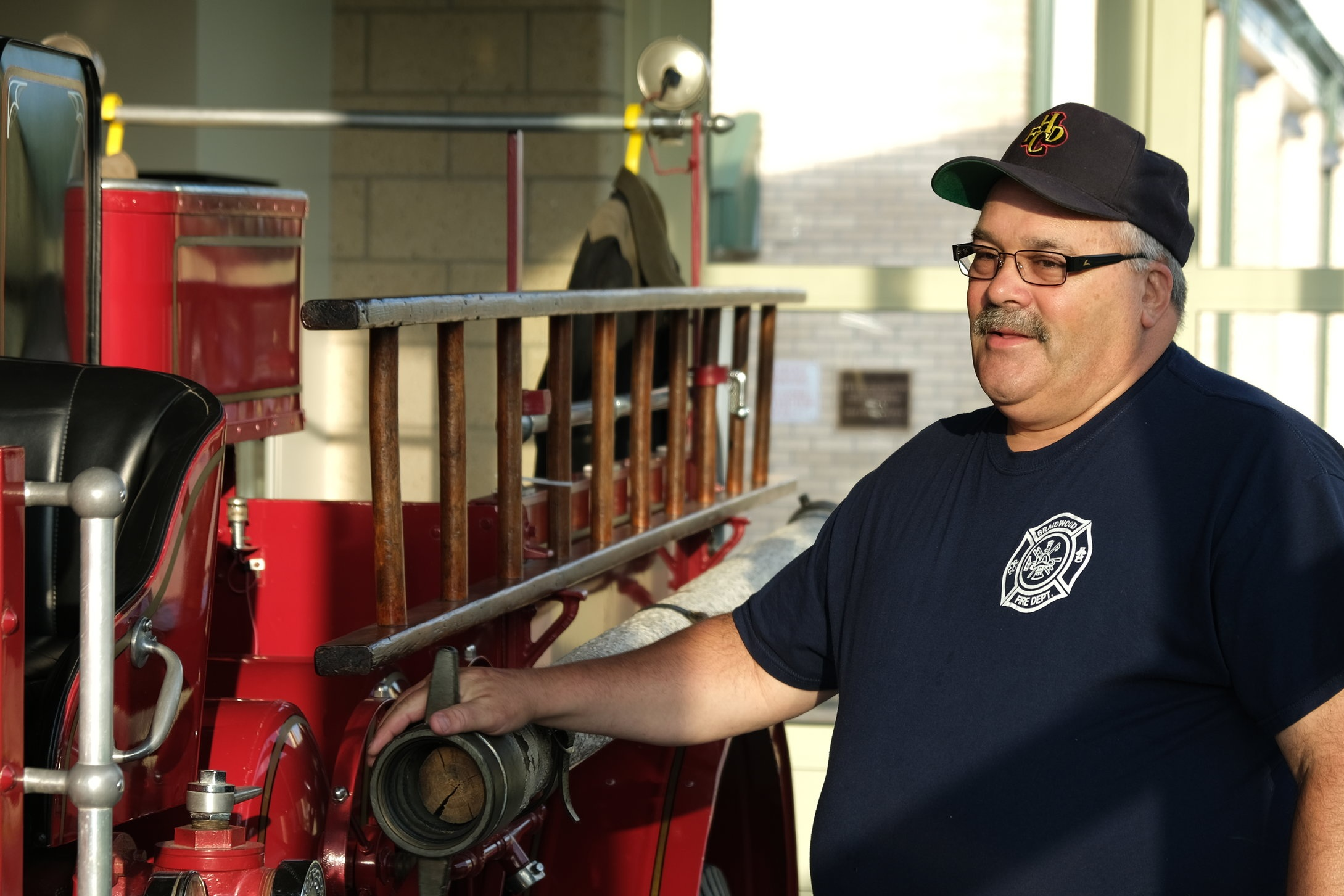 One last tour of the fire trucks with Mike