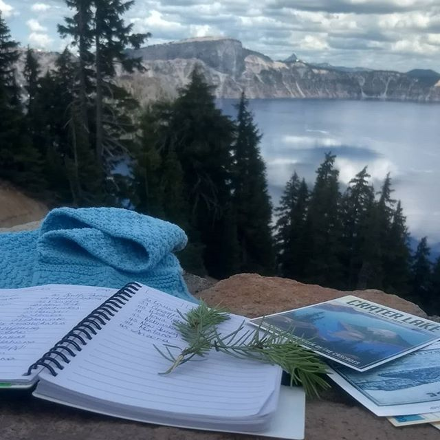 I was in a spectacular spot today, the stunning Crater Lake, Oregon. This was stop 1 enroute to Seattle. As Crater Lake is 9 hours from home (and I've banned iPads) my family and I have been brainstorming USA states on the way. There are 52, we got to 41. How many can you do? . #seekinspirecreate #inspiremyinstagram #whereiwrite #momentsofmine #littlestoriesofmylife #thatauthenticfeeling #todaysgoodthing #creative  #writerslife #inspire #creativelifehappylife #ignitetheskillwithin #lifestylecollective #nothingisordinary #livelifeandroam #seekthesimplicity #seewhatisee #sheisnotlost #postcardplaces #backroads #wandergram #ofsimplethings #bigskymoment #findyourcoast #california #postcardsfromtheworld #wheretofindme #oregonisbeautiful #oregonadventures