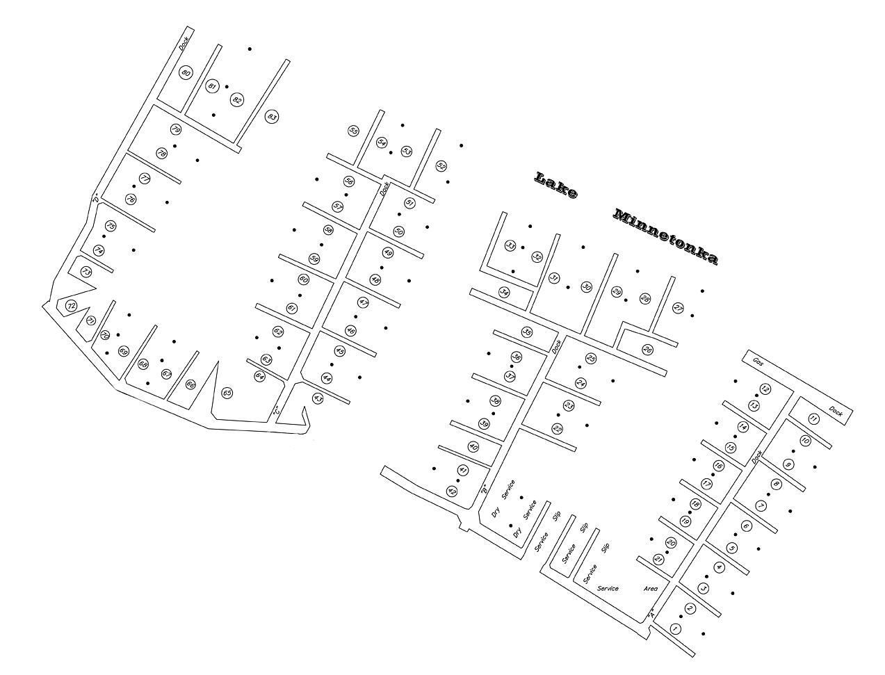 Tonka Bay Dock Map