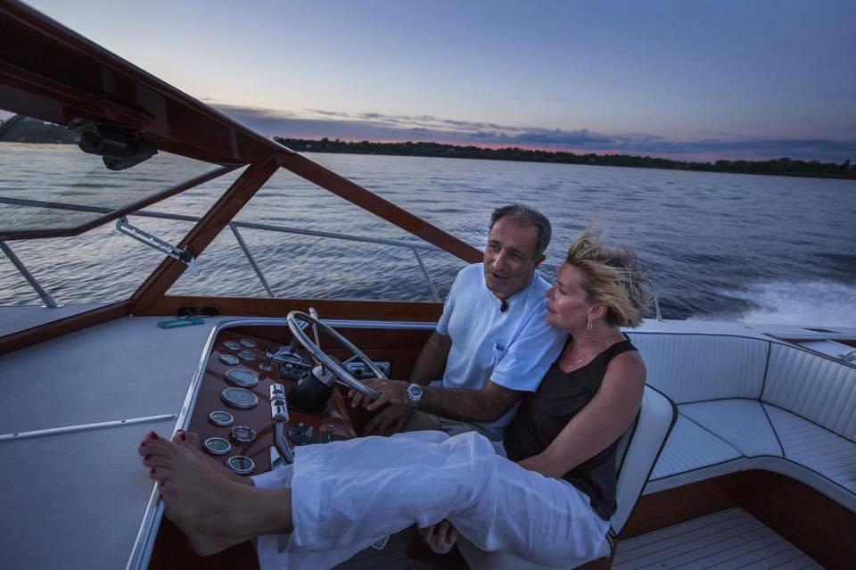 Gabriel & HIS WIFE MARY BETH ON THEIR 35 FOOT SKIFF CRAFT