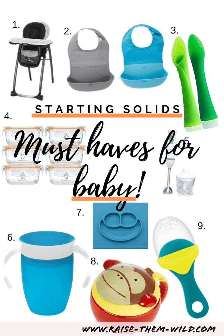 9 feeding must haves for starting solids with baby