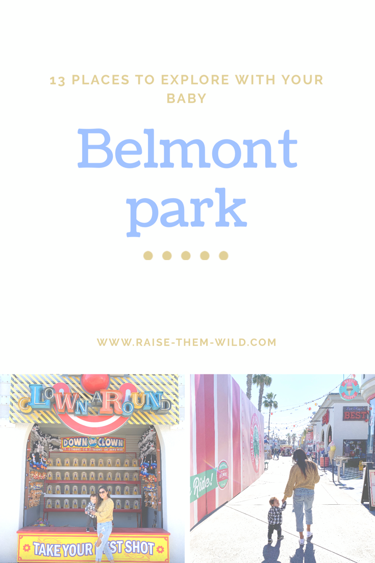 Explore San Diego with your baby: Belmont park