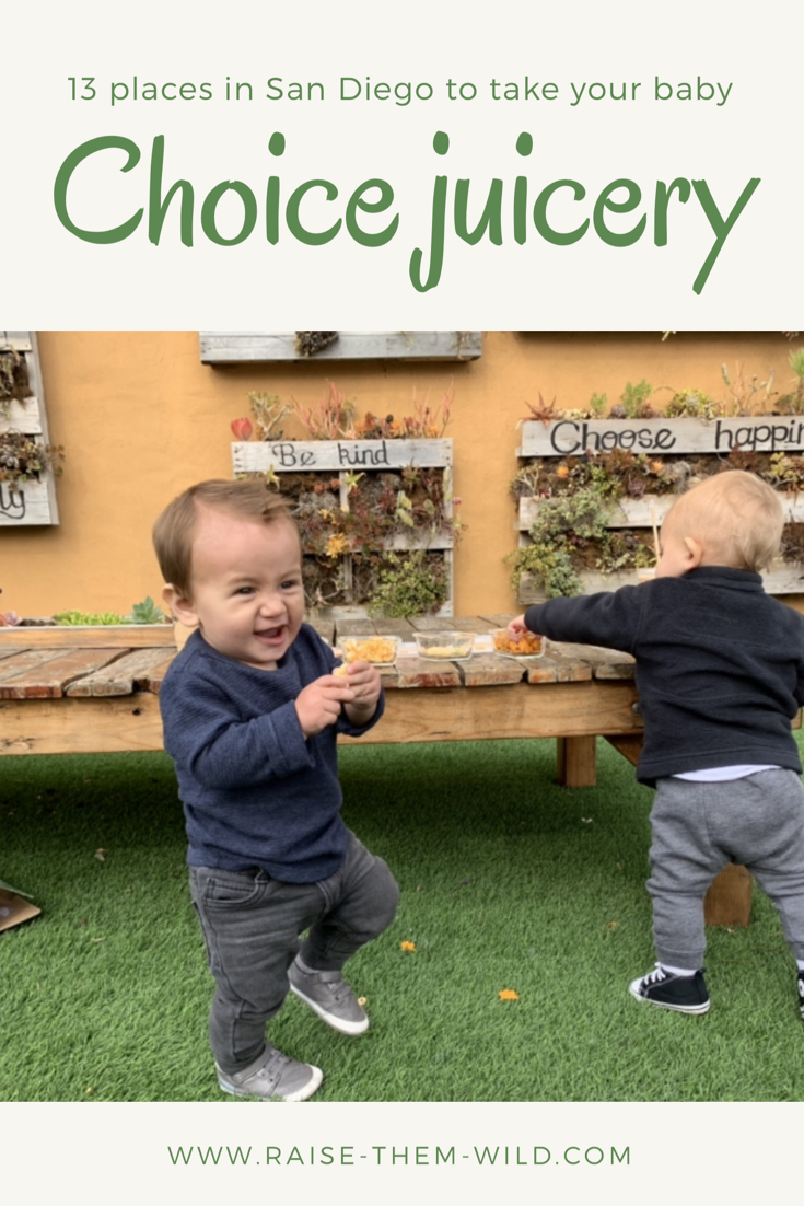 Fun places to explore with your baby during their first year. Explore choice Juicery!