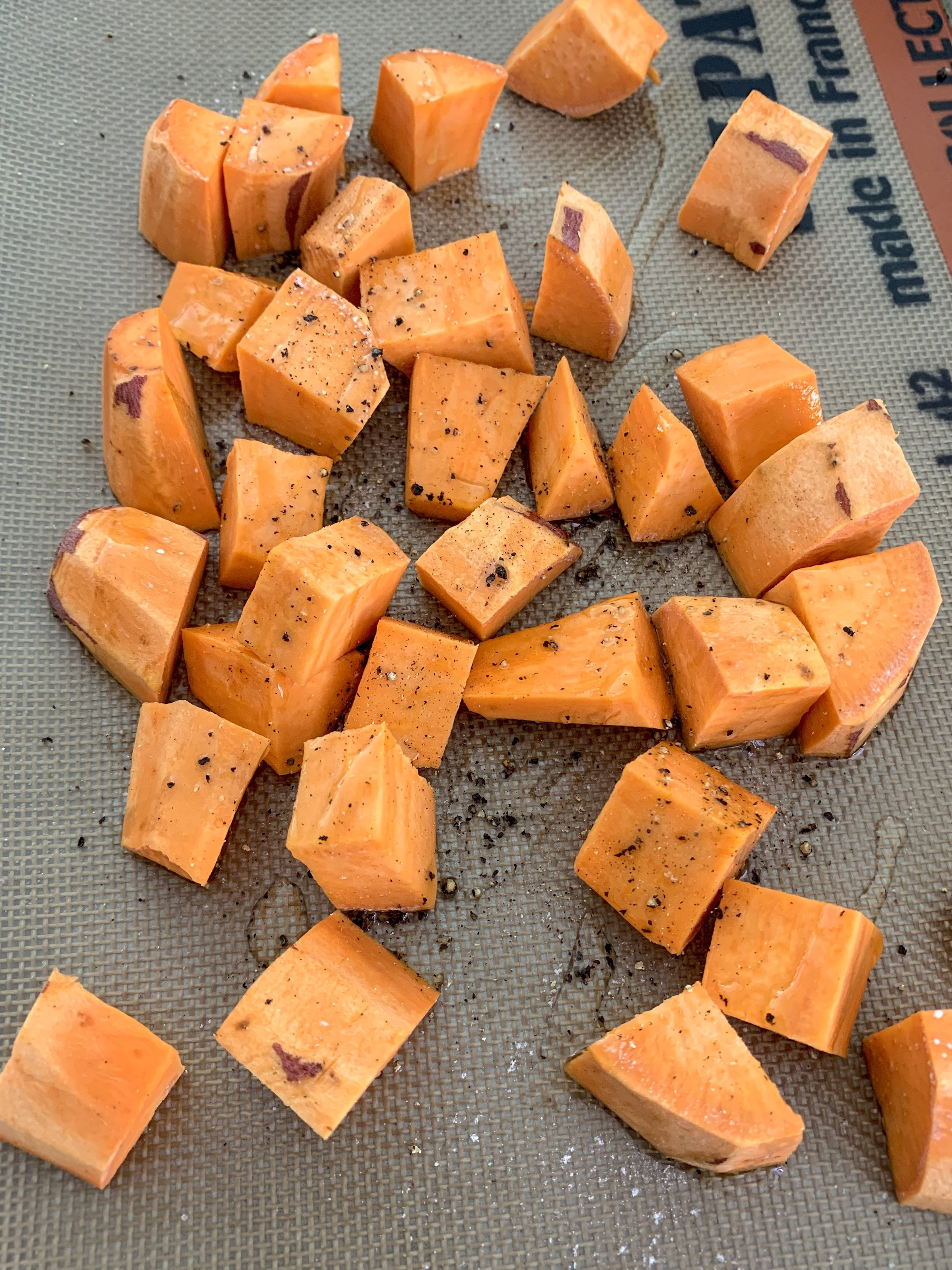 roasted sweet potato for Mother Earth bowl