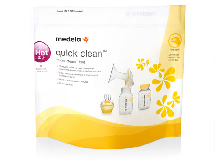 Breastfeeding must haves, quick clean bags, medela breastfeeding quick clean bags