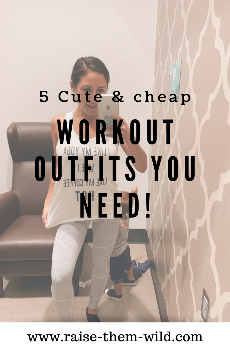 5 cute & cheap workout outfits you need! Yoga clothes, running clothes, gym clothes.
