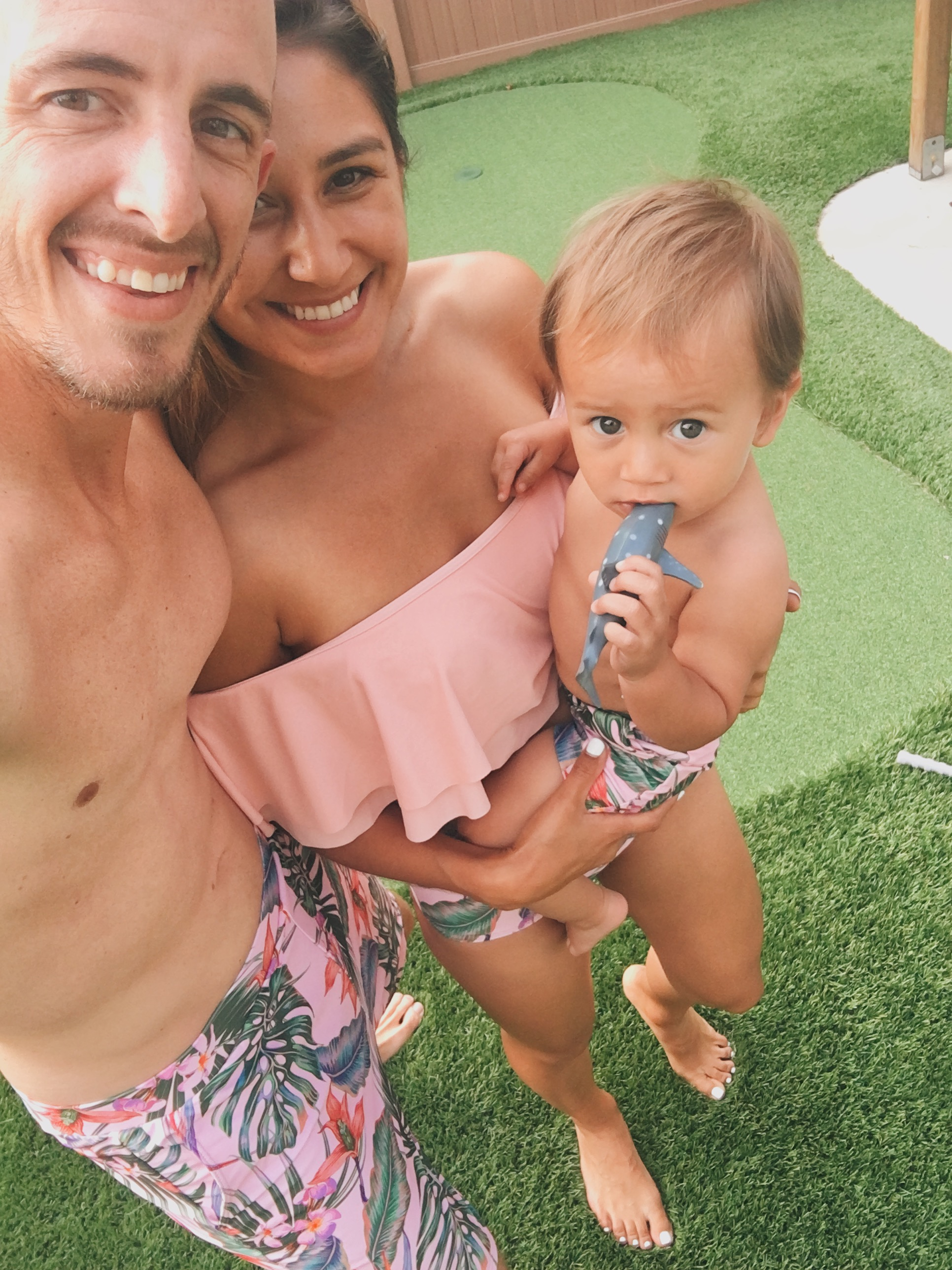 matching swimsuits for the entire family. so cute for summer. a must have!
