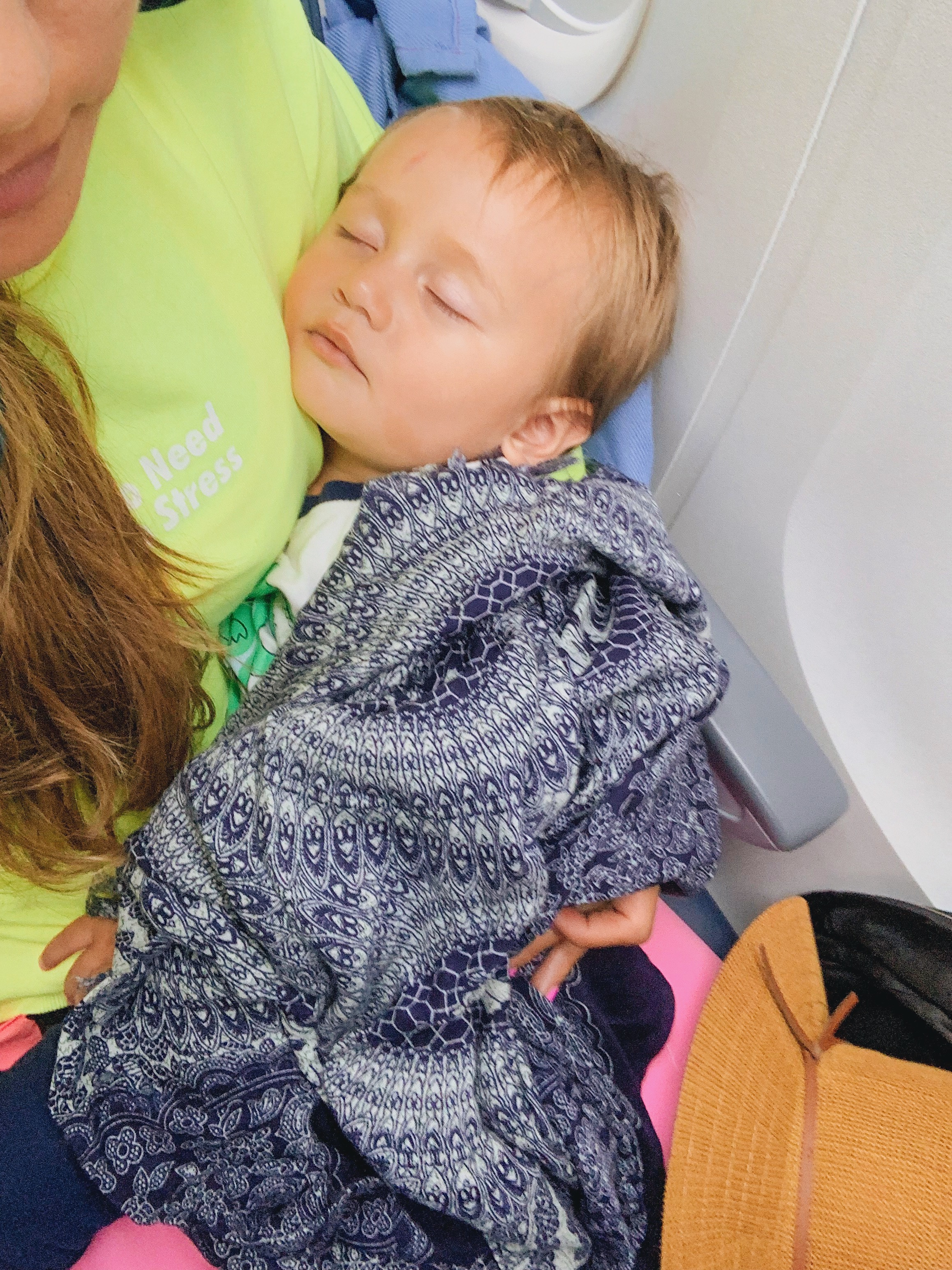 How this mama stayed comfortable during her international flight with a toddler