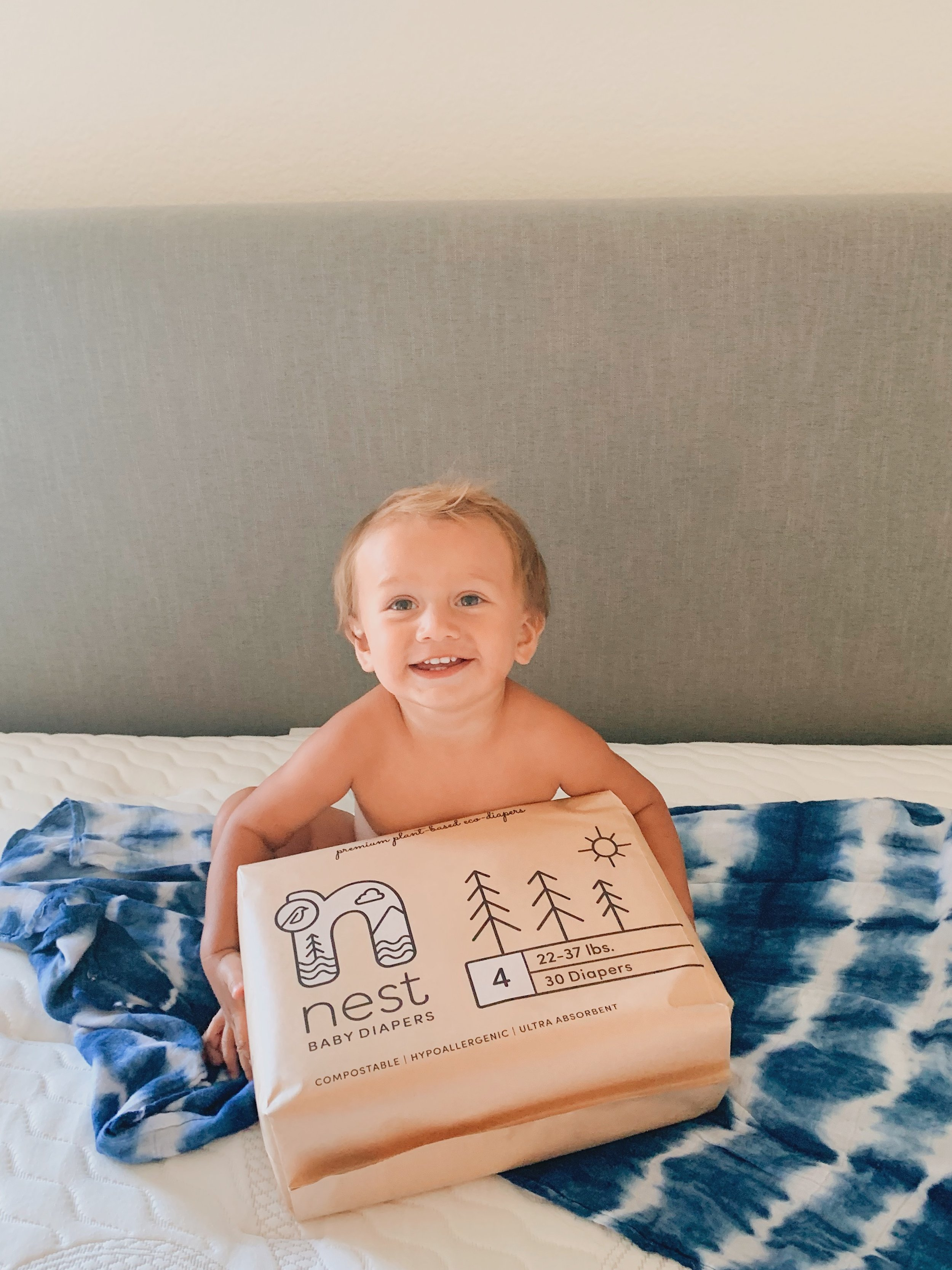 Biodegradable diapers that are great for the environment and perfect for sensitive skin