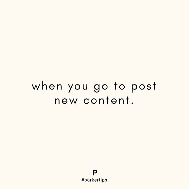 We loved @fohr.co founder @jamesnord's episode last week where he said when you go to post, ask yourself: Does this inspire, educate or entertain?  As you go to post new content this week, try and ask yourself that question before you go live ✨  #parkertips #parkermanagement