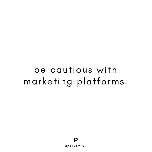 If you are in the influencer space you are probably finding new collaboration/marketing platforms popping up left and right, asking you to sign up because they have great opportunities for you!  Here's our advice: you should really only be on a select few. Next time someone asks you to sign up, kindly let them know that you don't sign up on a new platform unless there is a specific partnership you are working on with them. ✨ #parkertips #parkermanagement
