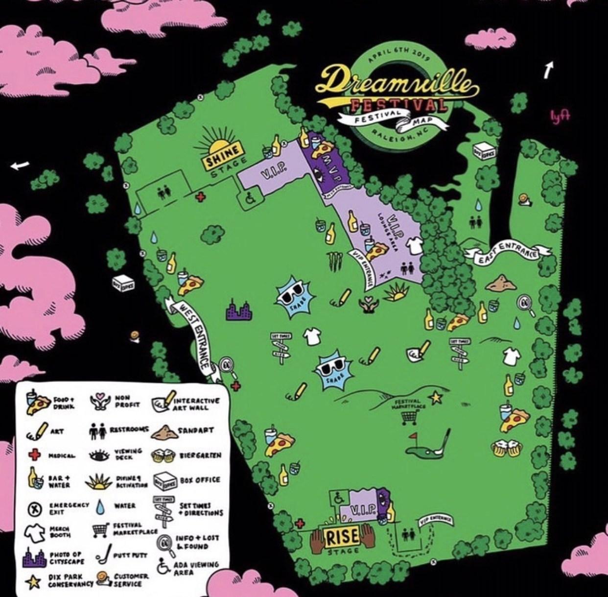 Handy Dandy Dreamville Map