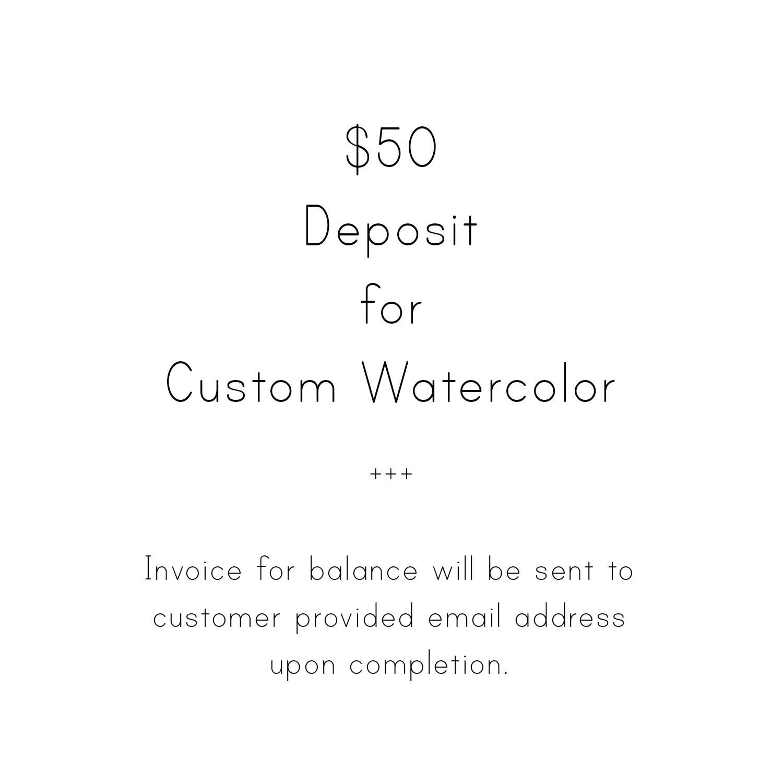 custom art deposit - $50.00