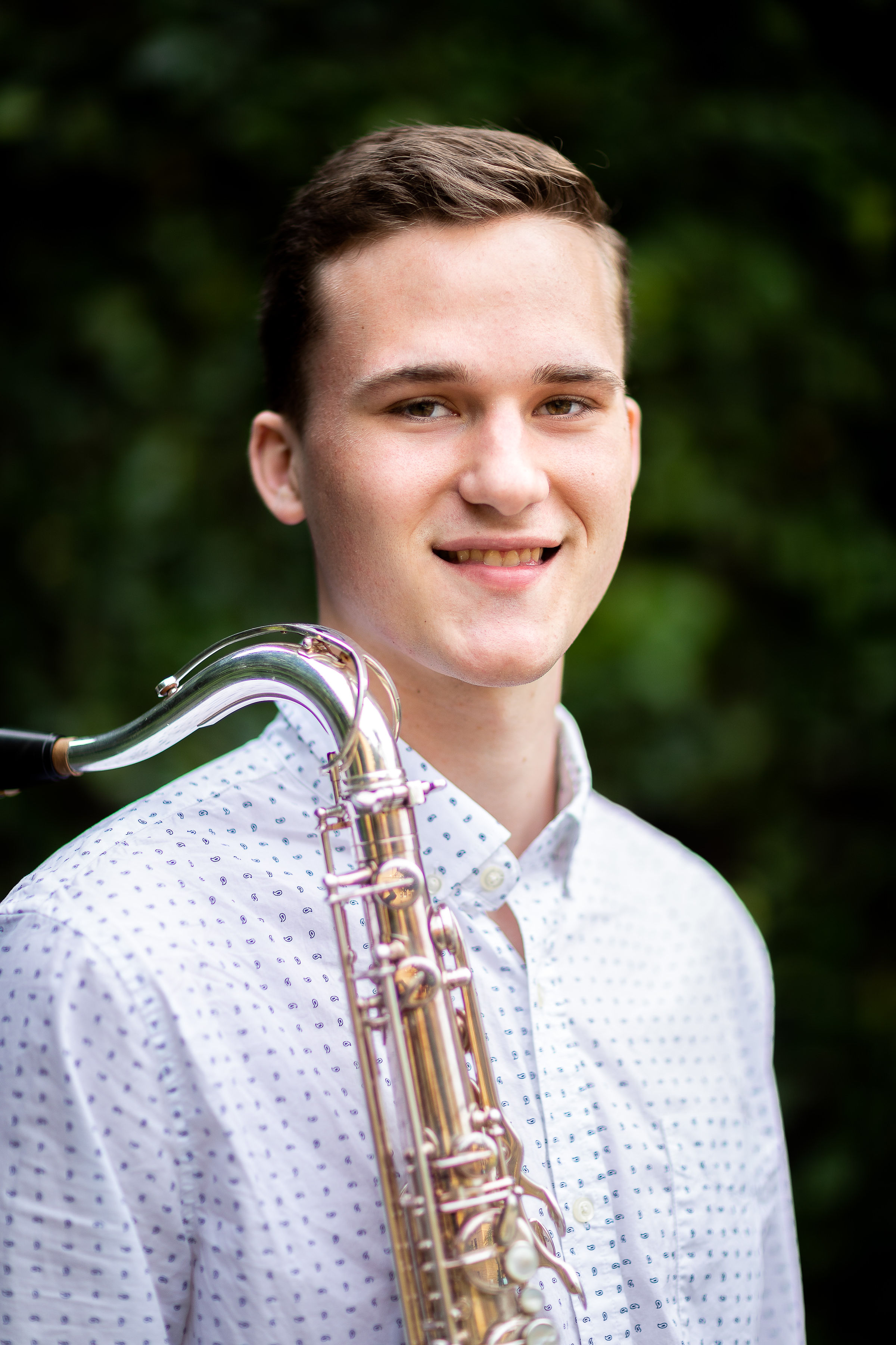 CLANCY ELLIS, TENOR - Clancy Ellis, from Merritt Island, Florida, is pursuing a Bachelor's of Music Performance at Eastman under the direction of Chien-Kwan Lin. Clancy also had the opportunity to study extensively with SSG Doug O'Connor of the U.S. Army Band and Vincent David of the Versailles Conservatory. At Eastman, he is a member of the Eastman Saxophone Project (ESP) and the Eastman Wind Ensemble. As a soloist, Clancy recently debuted with the Cordancia Chamber Orchestra as the first-place winner of the Nico Toscano Concerto Competition. He was also a prizewinner in the 198th Army Band Solo competition. Clancy has attended saxophone institutes throughout America and Europe, where he studied with renowned teachers such as Claude Delangle, Frederick L. Hemke, Arno Bornkamp, and Timothy McAllister. In addition to playing saxophone, Clancy has studied orchestral conducting with Brad Lubman and Mark Powell.