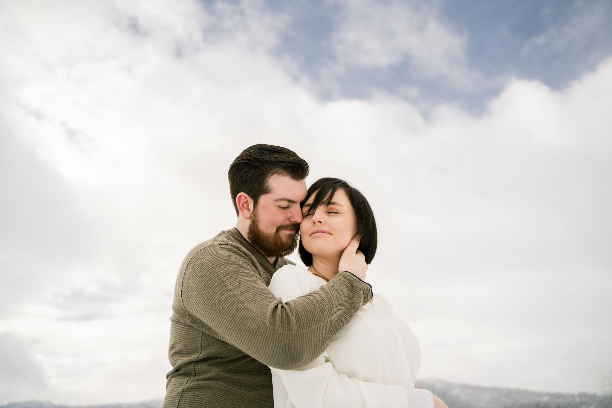 Paige and Joey Palisades Engagement Session Christine Madeux Photography Rexburg Idaho Photographer