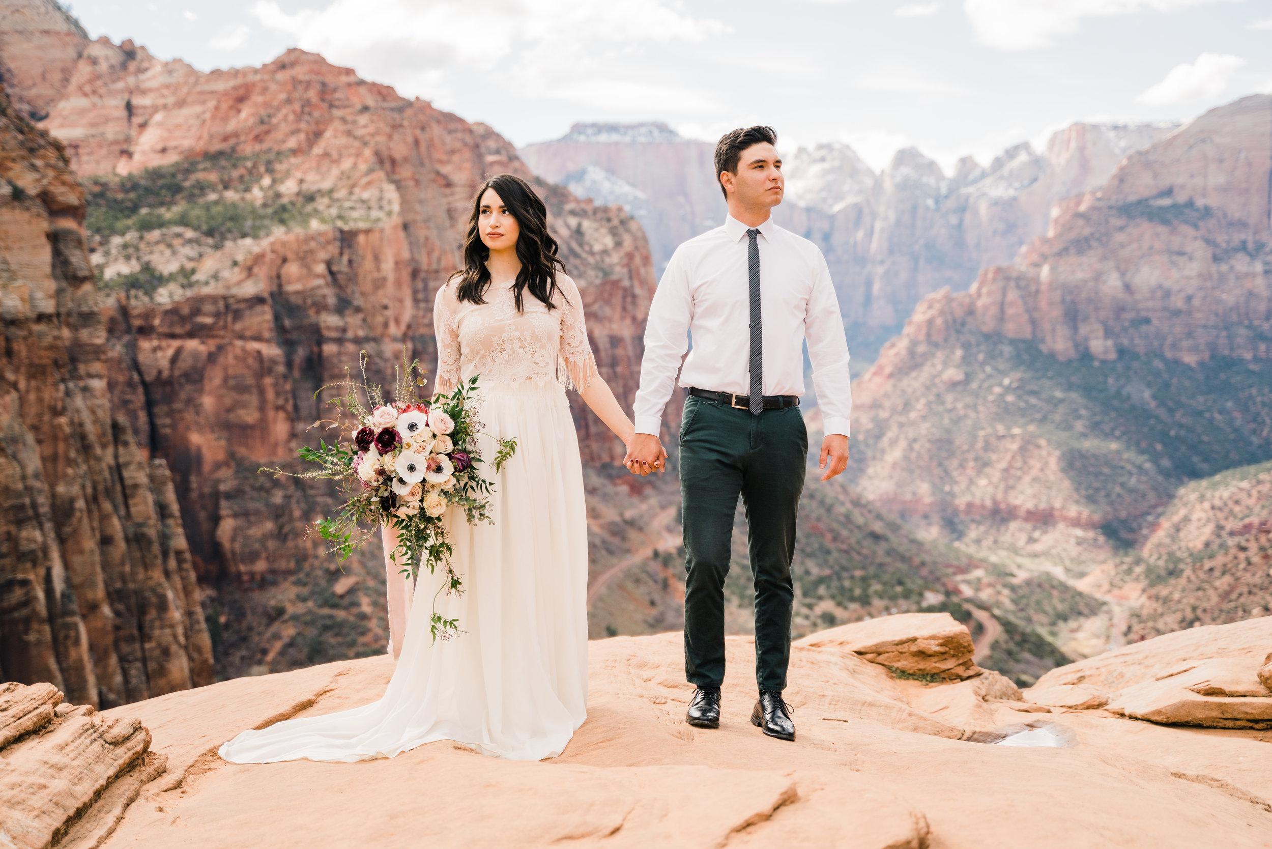 Dasya + Shiloh Zion National Park Bridal Session