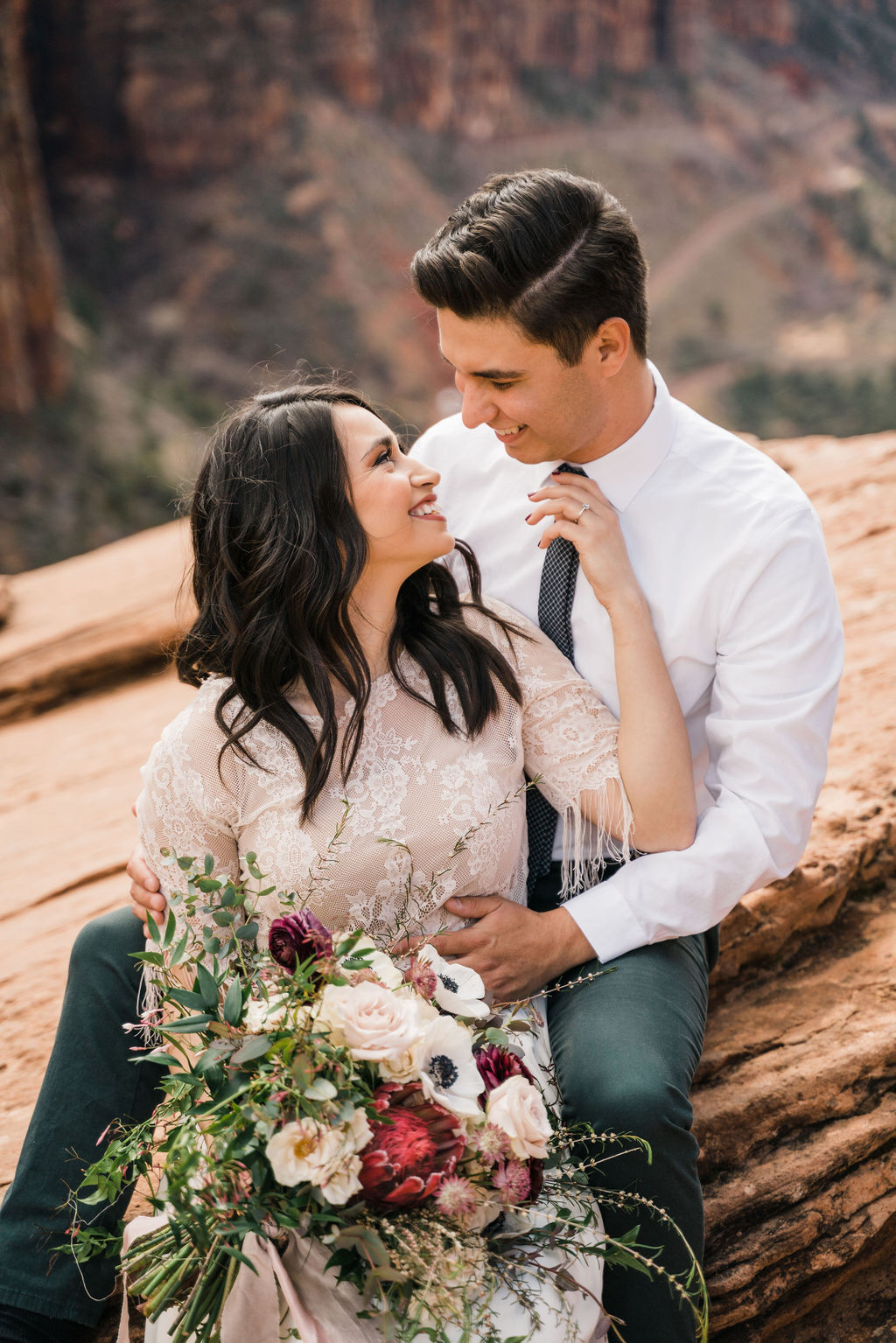 Dasya + Shiloh Zion National Park Bridal Shoot Christine Maduex Photography