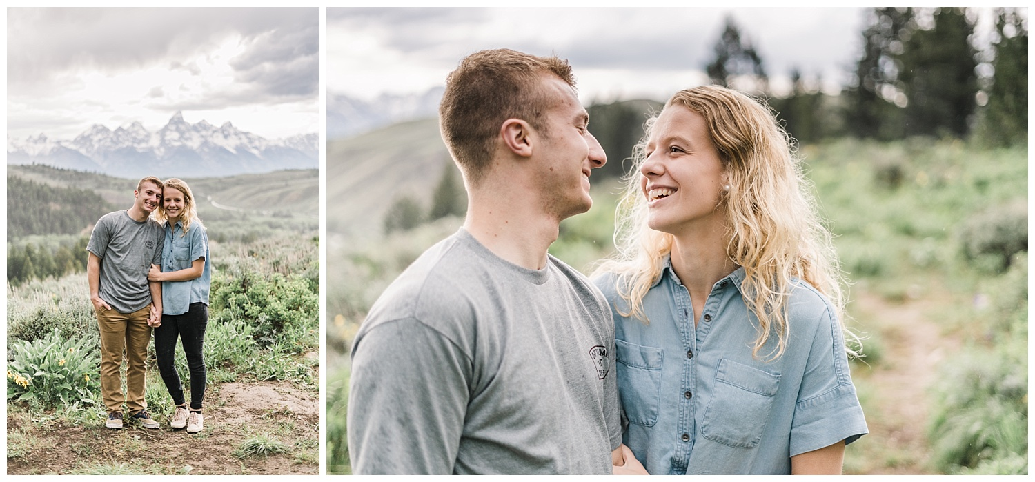 Fun and Carefree Grand Teton National Park Engagement Session
