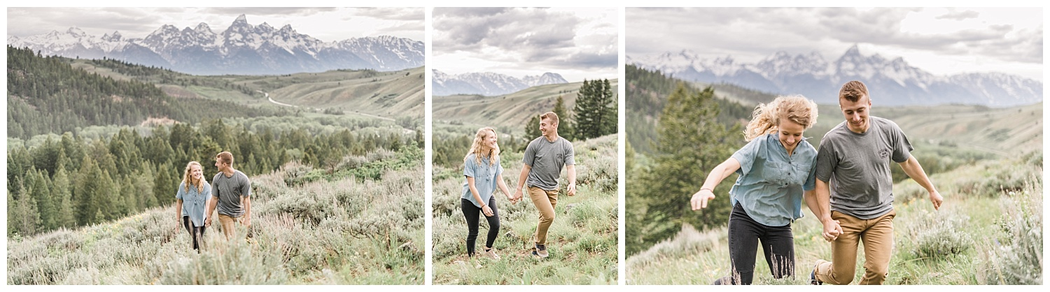 Adventurous and Wild Grand Teton National Park Engagement Session