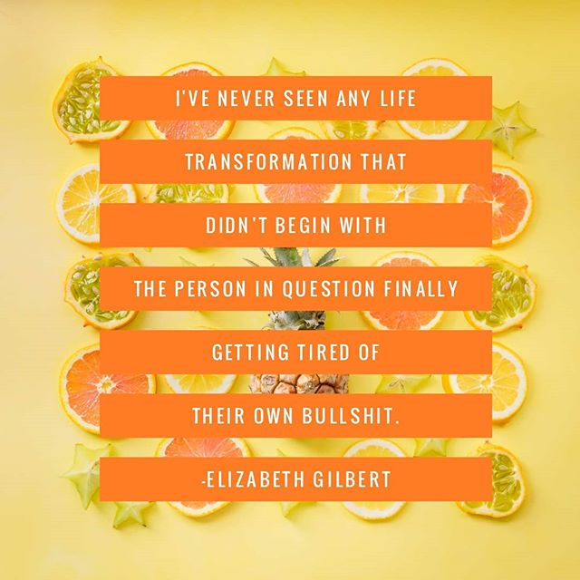This quote really hit home, as I'm pretty sure my own personal bs is what holds ME back. Any thoughts? #quote #elizabethgilbert #elizabethgilbertquotes  #inspo #blogger #bullshit #inspirationalquotes
