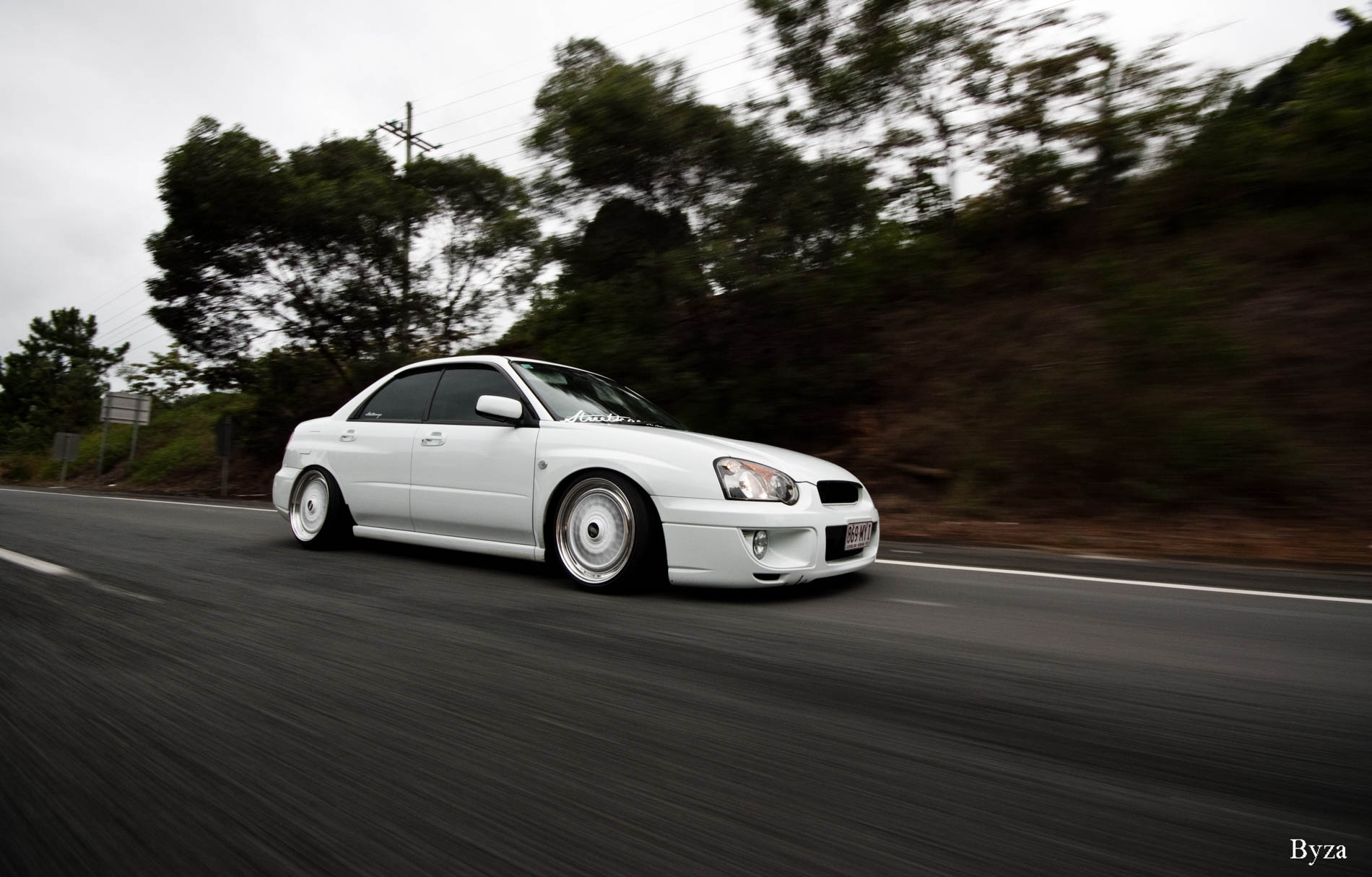 Alex's Albino Subie Fitted Fresh On BBS (0)