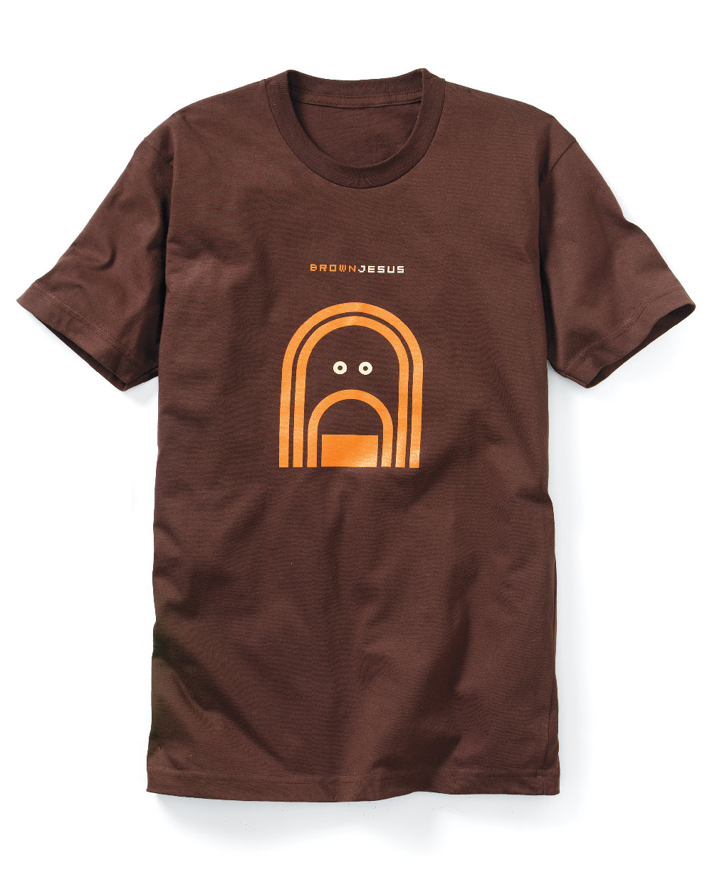 BrownJesus T-Shirt, (Men's XL ONLY CURRENTLY); American Apparel Fitted