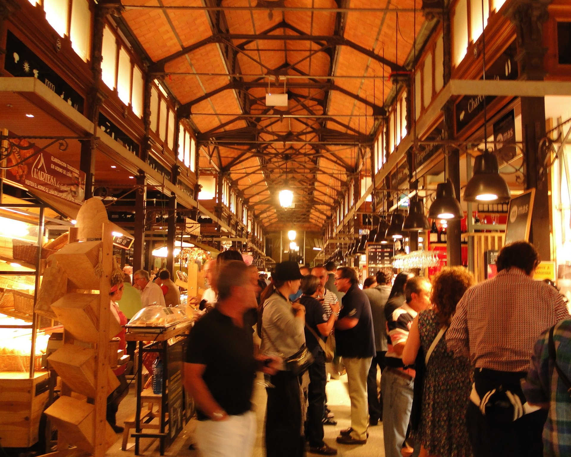 1). Mercado San Miguel - One of Europe's largest market, with around 200 stalls, this lovely art nouveau marketplace has its roots dating back to 1916.