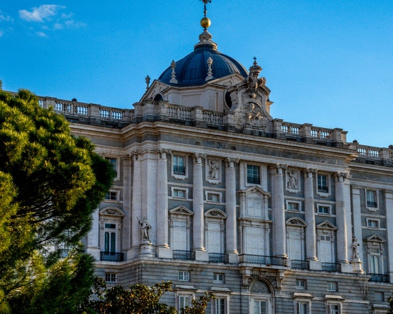 4). Royal Palace - Dating back to the mid-1700s, the Royal Palace sits on the site of Madrid's Moorish Alcázar fortress-palace, which burned down in 1734. It is Western Europe's largest palace and fuses baroque and neoclassical styles together.