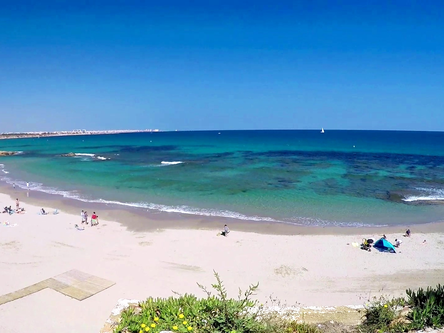 Playa de Cabo Roig - If you are looking for a clear, open and sublime place to relax then this beach will suit you well. With amazing views of Torrevieja, Orihuela Costa and La Manga, you will experience relaxation like never before.